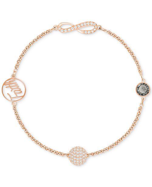 buy popular 80df9 73e50 ... Swarovski Remix Collection Rose Gold-Tone Crystal Faith and Infinity  Bracelet ...