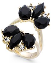 I.N.C. Rose Gold-Tone Stone and Crystal Split Ring, Created for Macy's