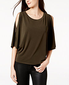 RACHEL Rachel Roy Cold-Shoulder Top, Created for Macy's