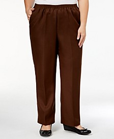 Plus Size Classic Pull-On Straight-Leg Pants