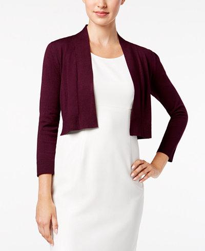 Calvin Klein Solid Shrug Cardigan - Sweaters - Women - Macy's