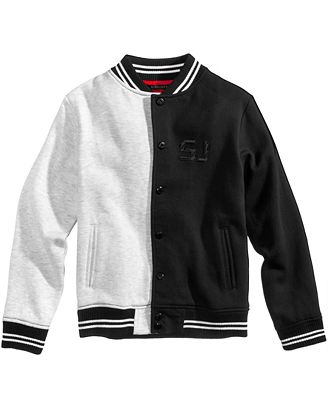 Sean John Lion Empire II Bomber Jacket, Big Boys - Coats & Jackets ...