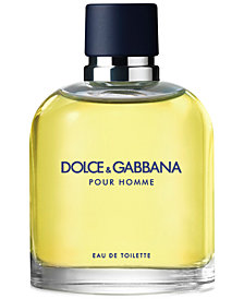 DOLCE&GABBANA Men's Pour Homme Eau de Toilette Spray, 4.2 oz.