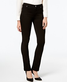 I.N.C. Petite Black Bootcut Jeans, Created for Macy's