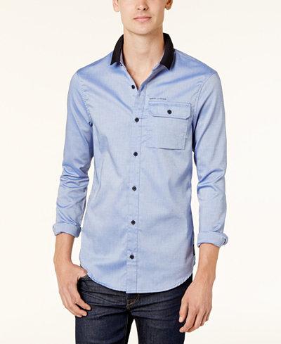 Armani Exchange Men's Knit-Collar Shirt