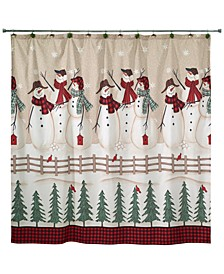 Snowman Gathering Shower Curtain