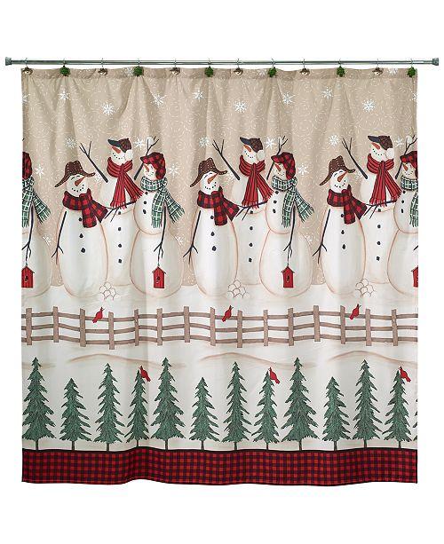 Avanti CLOSEOUT! Snowman Gathering Shower Curtain