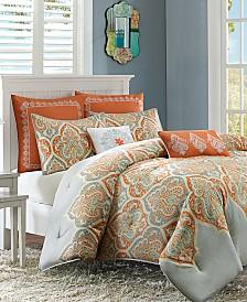 Madison Park Nisha 7-Pc. Cotton Sateen Reversible Comforter Sets