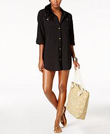 Dotti Cabana Life Shirtdress Cover-Up