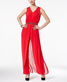 Thalia Sodi Chiffon-Overlay Jumpsuit, Created for Macy's