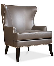Estevez Leather Armchair, Quick Ship