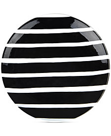 Coton Colors Black Plank Dinner Plate