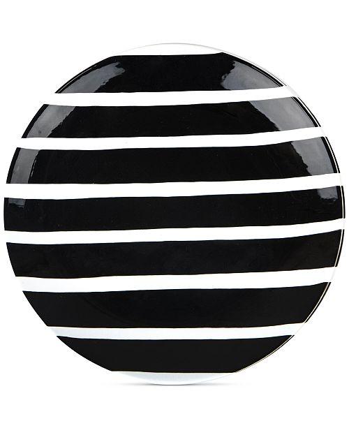 Coton Colors Black Plank Dinner Plate