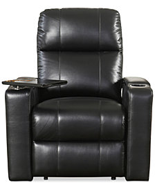 Thomas Leather Power Recliner, Quick Ship