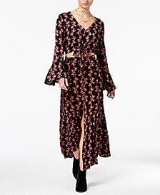 American Rag Juniors' Printed Crop Top & Maxi Skirt, Created for Macy's