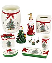 Avanti Spode Christmas Tree Bath Accessories Collection