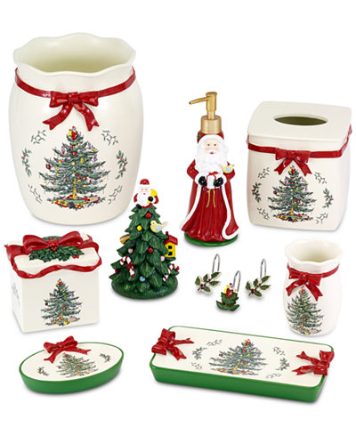 Avanti spode christmas tree bath accessories collection for Bathroom accessories collection