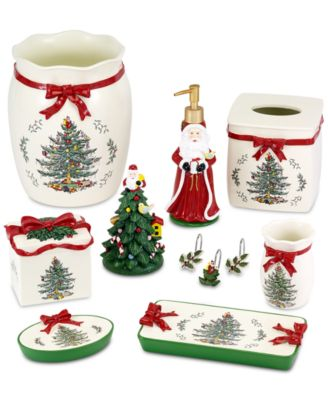 Beau ... Avanti Spode Christmas Tree Bath Accessories Collection ...