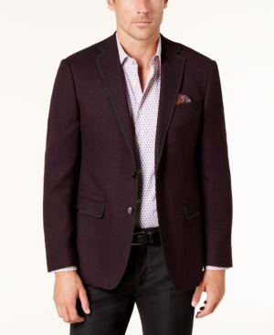 Tallia Orange Men's Slim-Fit Dark Purple Soft Sport Coat thumbnail