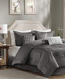 CLOSEOUT! Trinity Charmeuse 7-Pc. Queen Comforter Set