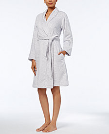 Charter Club Short Textured Robe, Created for Macy's