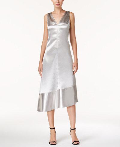 Anne Klein Metallic Asymmetrical Dress