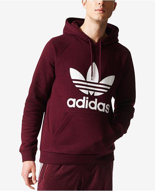 adidas Men s Fleece Trefoil Hoodie  adidas Men s Fleece Trefoil Hoodie ... fe6ff91fb49