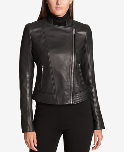 Dkny Asymmetrical Leather Jacket Women Macy S