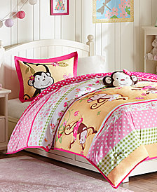 Mi Zone Kids Monkey Business 4-Pc. Reversible Bedding Collection