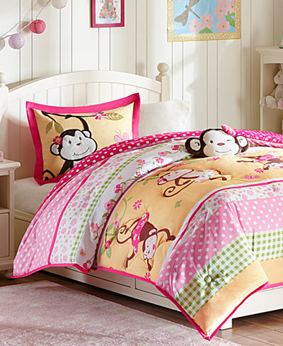 Mi Zone Kids Monkey Business 4-Pc. Reversible Bedding Collection