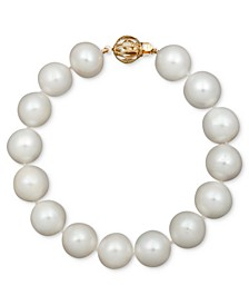 "Pearl Bracelet, 7-1/2"" 14k Gold A+ Cultured Freshwater Pearl Strand (11-13mm)"