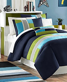 Mi Zone Pipeline 3-Pc. Reversible Twin/Twin XL Comforter Set
