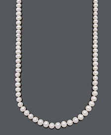 Cultured Freshwater Pearl Strand Necklace (8-1/2-9-1/2mm) in 14k Gold