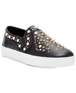CASINTIA PEARL-STUDDED SNEAKERS WOMEN'S SHOES