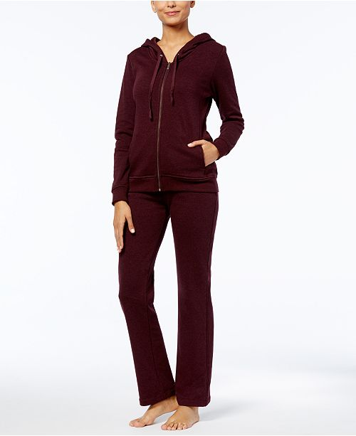 6e98aec3cd2fce ... UGG® Clara Solid Hooded Sweatshirt & Sweatpants Sleep Separates ...