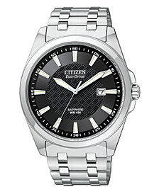 Citizen Men's Eco-Drive Stainless Steel Bracelet Watch 41mm BM7100-59E