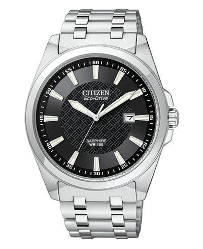 Citizen Men's Eco-Drive Stainless Steel Bracelet Watch 41mm BM7100-59E