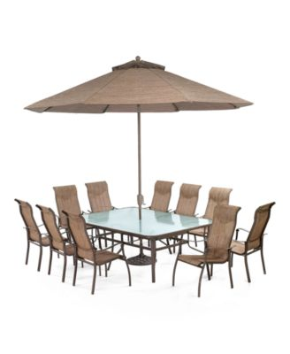 """Oasis Outdoor Aluminum 11-Pc. Dining Set (84"""" x 60"""" Dining Table and 10 Dining Chairs), Created for Macy's"""