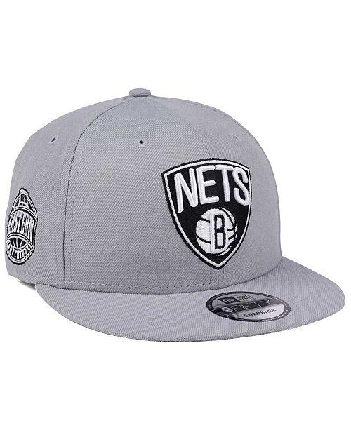 quality design bb3b8 095a9 ... New Era Brooklyn Nets Gray Pop 9FIFTY Snapback Cap ...