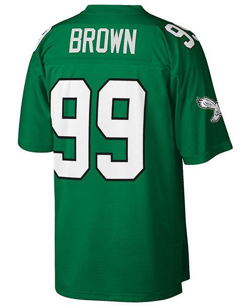 various colors 40389 7089e Men's Jerome Brown Philadelphia Eagles Replica Throwback Jersey