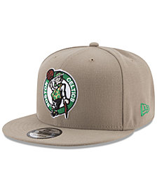 New Era Boston Celtics Tan Top 9FIFTY Snapback Cap
