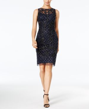 Adrianna Papell Beaded Sheath Dress 4959774