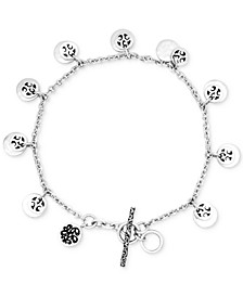 Disc Charm Bracelet in Sterling Silver