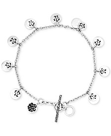 Lois Hill Disc Charm Bracelet in Sterling Silver