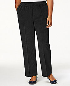Alfred Dunner Plus Size Classics Corduroy Pull-On Pants