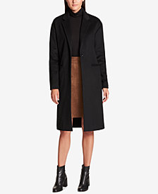 DKNY Wool-Cashmere Blend  Maxi Walker Coat