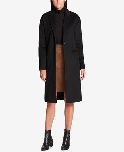 DKNY Wool-Blend Maxi Walker Coat - Coats - Women - Macy's