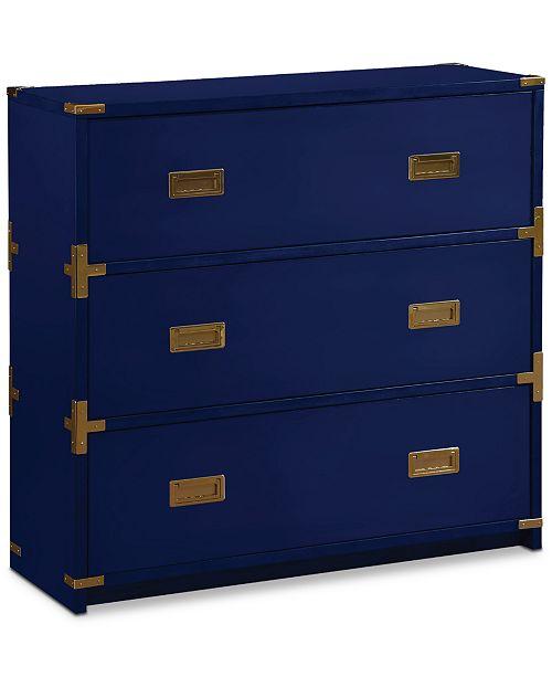 Furniture Bynder 3-Drawer Cabinet, Quick Ship