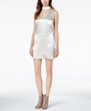 KENSIE SATIN CHOKER DRESS
