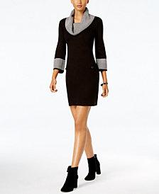 Jessica Howard Petite Cowl-Neck Sweater Dress